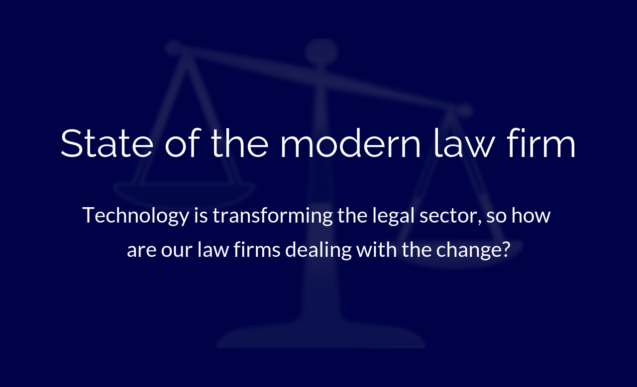 State of the modern law firm